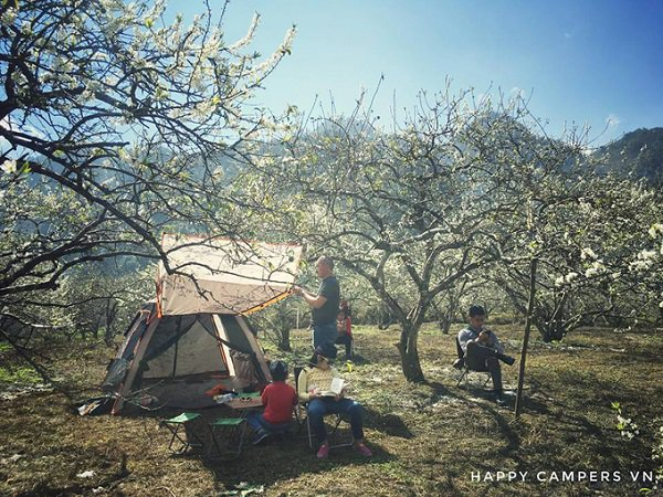relax space for camping in Moc Chau