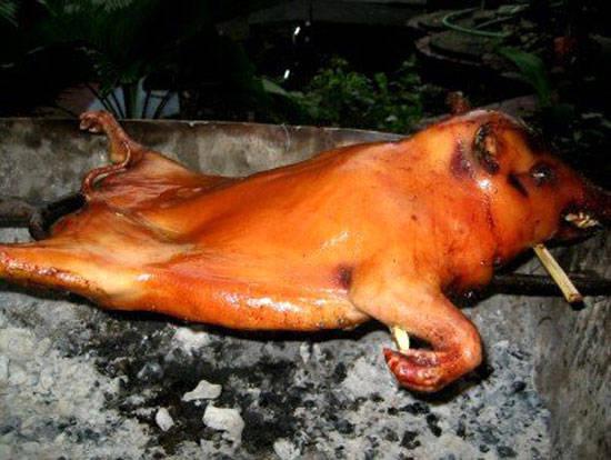 Grilled native pork