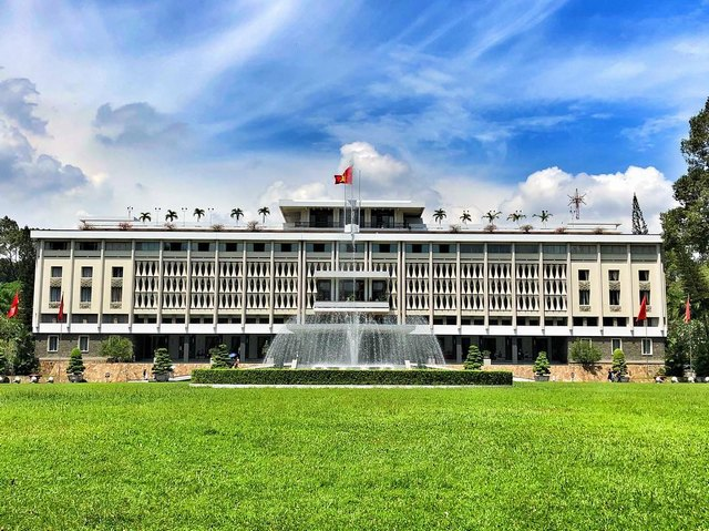 Independence Palace is a green oasis in the heart of the city @kamal.nor