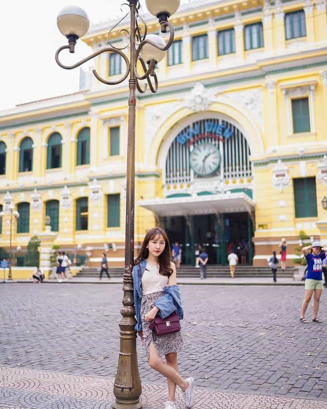 Saigon Central Post Office with typical architecture @brinkkty