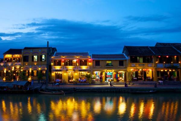 Hoi An sparkles in the night. Travelingalice