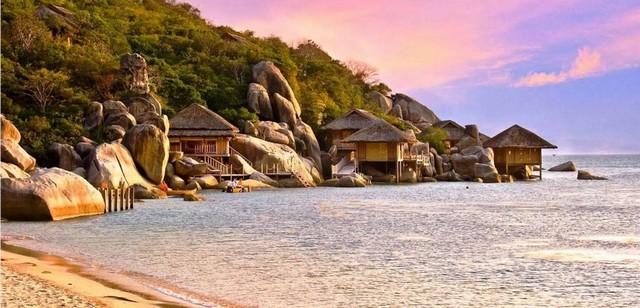 Belle vue sur la mer dans la baie de Van Phong