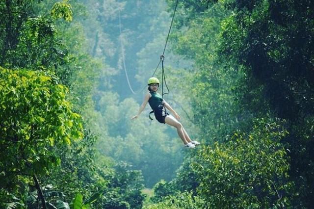 Zip lining and conquer the treetops with High Wire