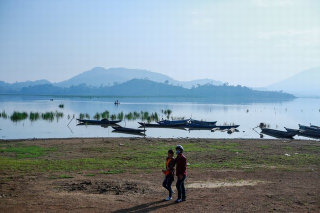 Riding elephant and taking a dugout canoe at Lak Lake - the largest freshwater lake in the Central Highlands
