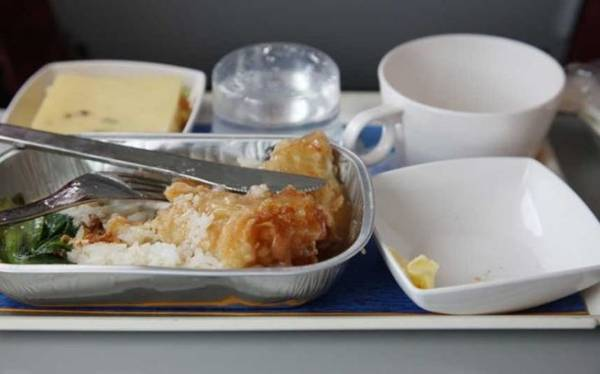 Food on the plane - Photo Telegraph