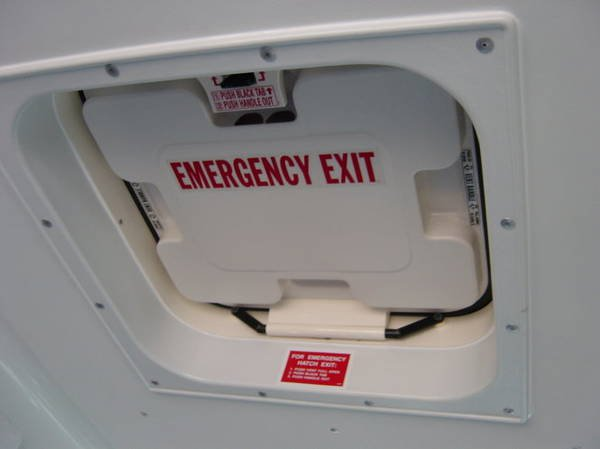 Know how to open the emergency exit and how to get out