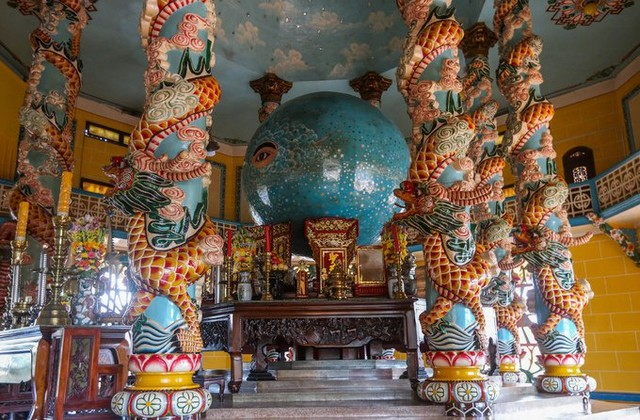 The main hall of the temple worships the holy eyes of God