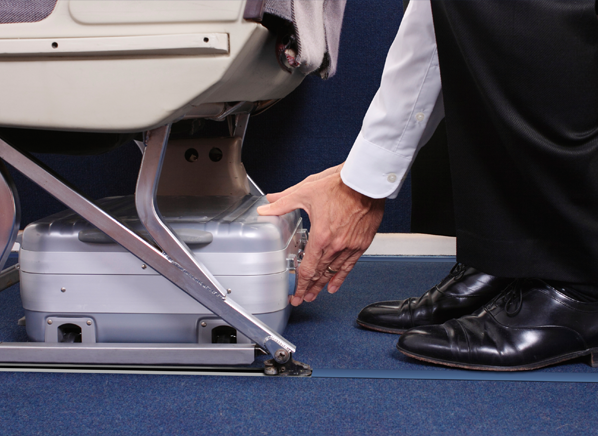 When the accident occurred, this luggage will become shield to save you