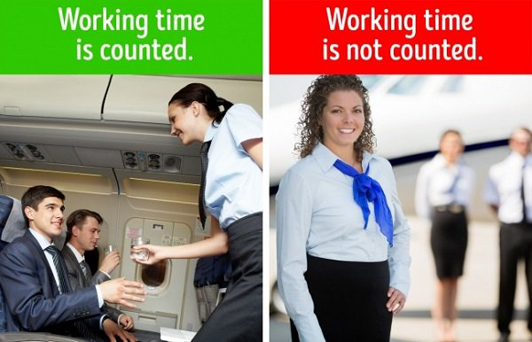 Delayed flight affects to flight attendants as well
