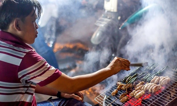 Huynh Hoa, a seller of barbecue dishes in HCMC. Photo Guardian