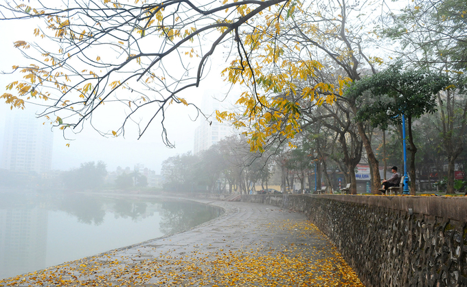 Hanoi city with colorful space