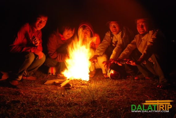 Dinner by the bonfire