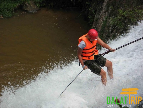 Canyoning at Datanla waterfall