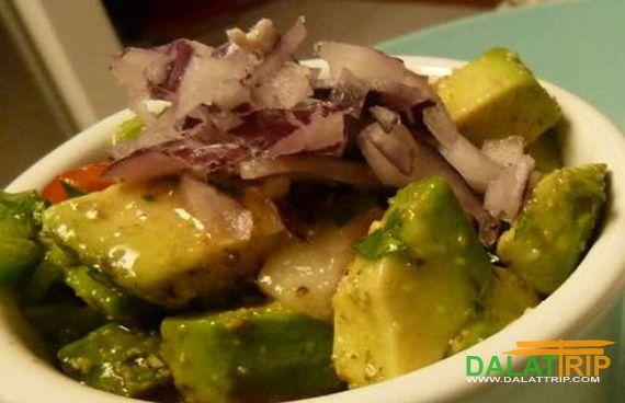 Dish of Dalat avocados