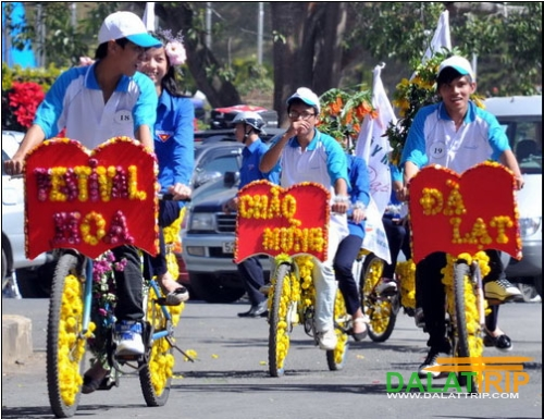 Tandem Bike in Dalat's Flower Festival
