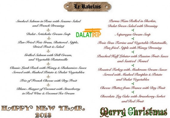 MENU XMAS-NEW YEAR RABELAIS