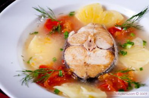 Sweet and sour Fish soup