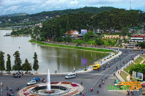 Central Fountain of Dalat City