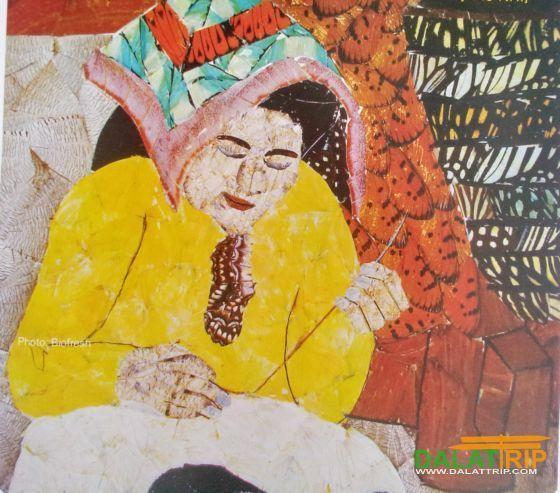 ภาพแม่ที่ทำจากผีเสื้อ