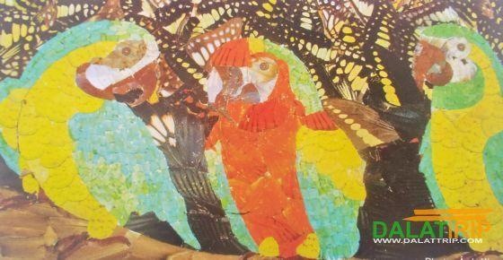 Trois perroquets image a été réalisée à partir des papillons