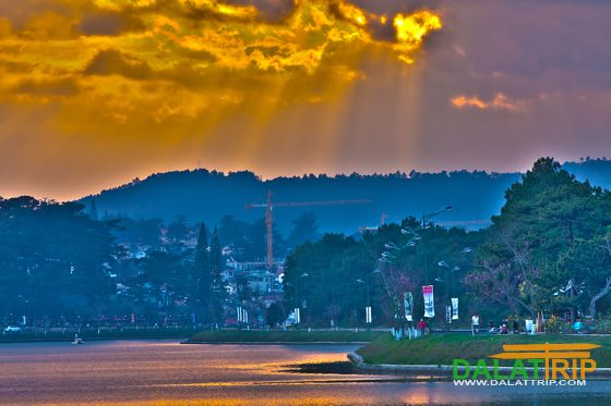 A beautiful lake in Dalat city