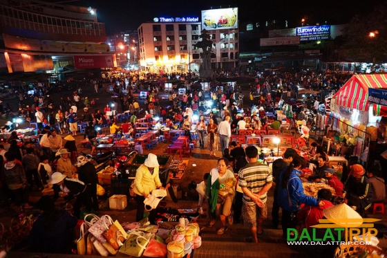 Dalat Night Market on Tet Holidays