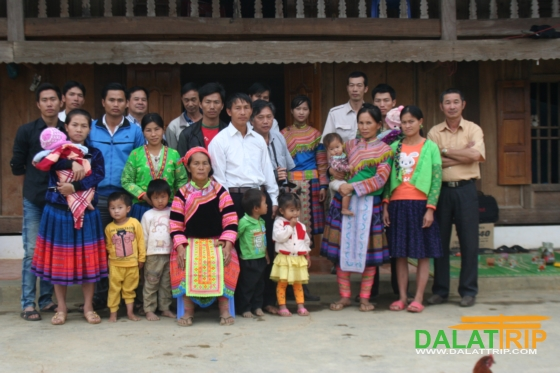 Our volunteer team with villagers