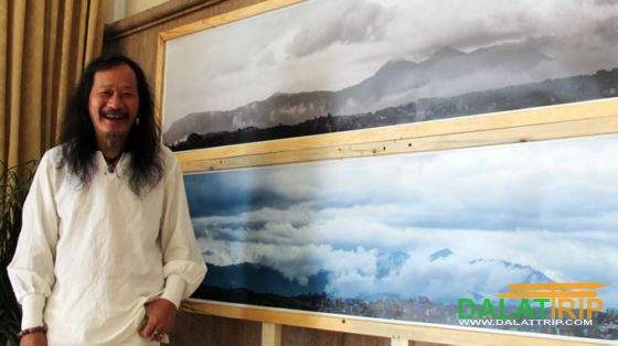 Mpk in his photo exhibition about Langbiang
