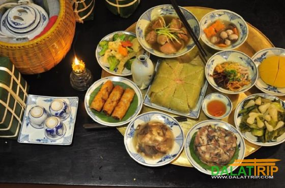 New year feast of Vietnamese people