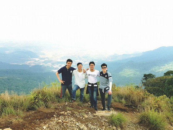 Langbiang peak is the best position for Dalat view