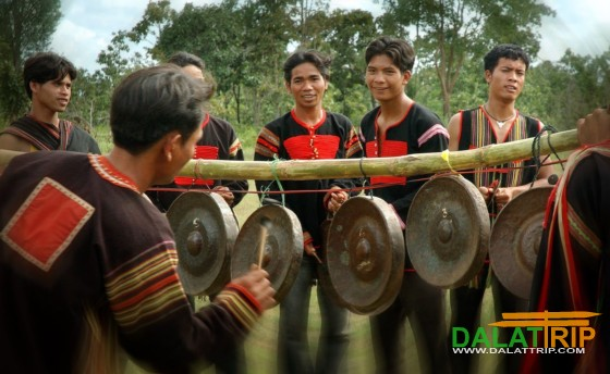 Unique gong sets of the central highlands people