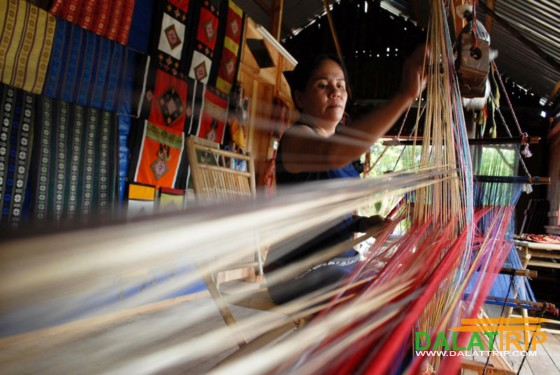 brocade-weaving craft in Dalat countryside