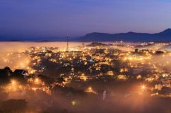 The attraction of Da Lat city at night