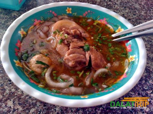 Thick noodle soup in Dalat