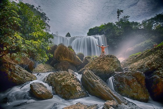 Elephant waterfall is combined on way from Dalat to Mui Ne