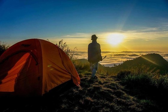 Camping in LangBiang Mountain