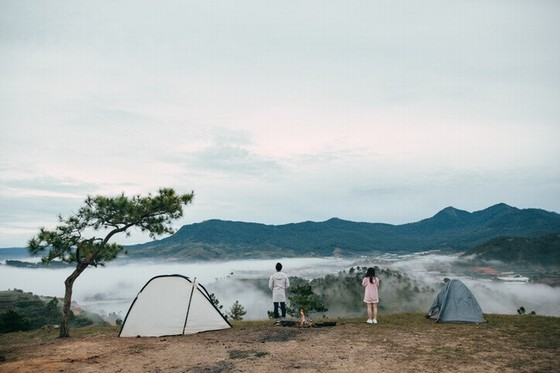 Camping on Thien Phuc Duc hill