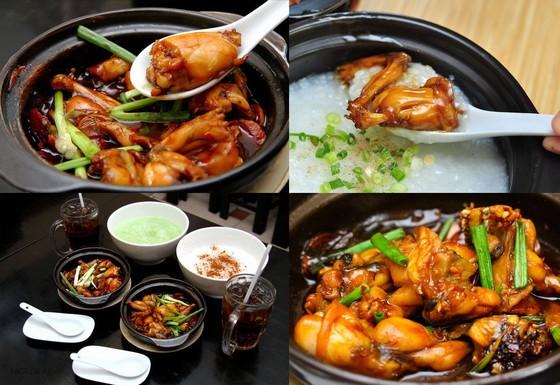 Singapore-style frog porridge