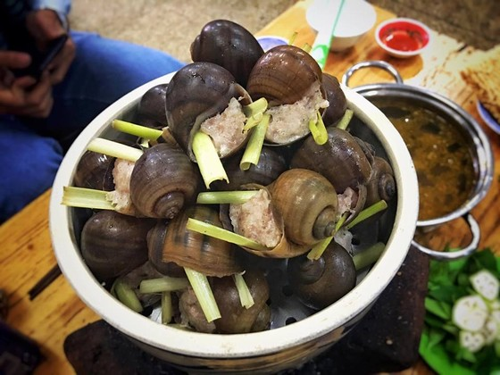 Snail stuffed meat - the restaurant 33 is a delicious and famous place in Dalat