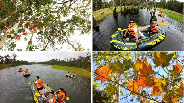 kayak tour on Tuyen Lam Lake